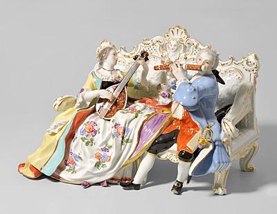 Schuler Auktionen AG - Figurengruppe, Meissen