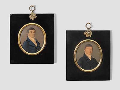 Schuler Auktionen AG - 1 Paar Herrenporträts