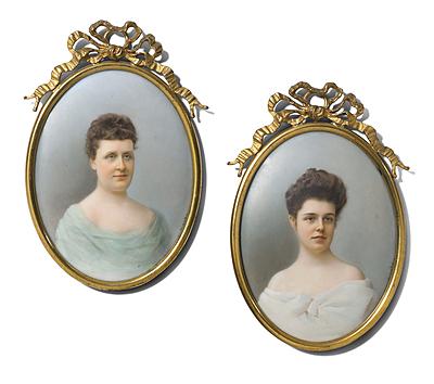 Schuler Auktionen AG - 1 Paar Damenporträts