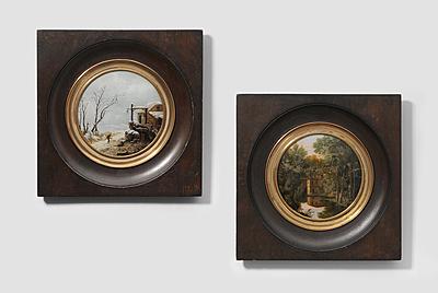 Schuler Auktionen AG - 1 Paar Miniaturmalereien