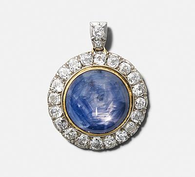 Schuler Auktionen AG - Sternsaphir-Diamant-Anhänger