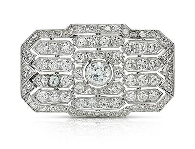 Schuler Auktionen AG - Art Déco Diamant-Brosche/-Anhänger