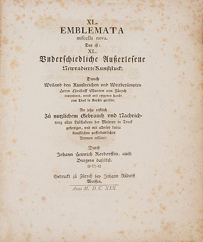 Schuler Auktionen AG - Rordorff, Johann Heinrich / Murer, Christoph