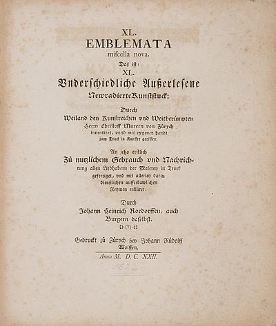 Schuler Auktionen AG - Rordorff, Johann Heinrich/ Murer, Christoph
