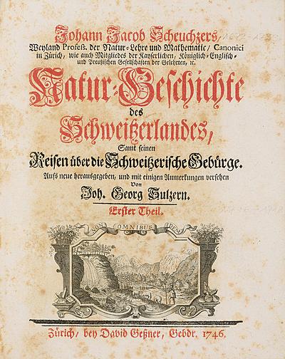 Schuler Auktionen AG - Scheuchzer, Johann Jakob