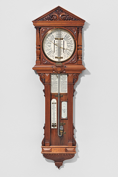 Schuler Auktionen AG - Säulenbarometer, Wetterstation