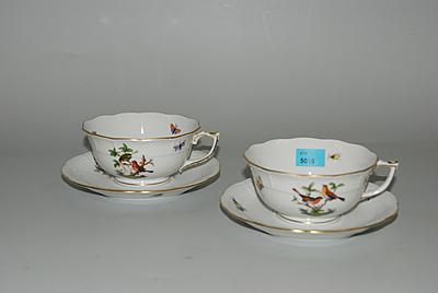 Schuler Auktionen AG - 6 Teetassen mit U'tassen, Herend