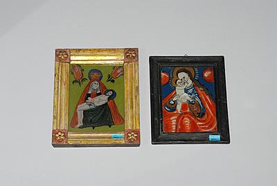 Schuler Auktionen AG - Lot: 2 kleine Hinterglasbilder