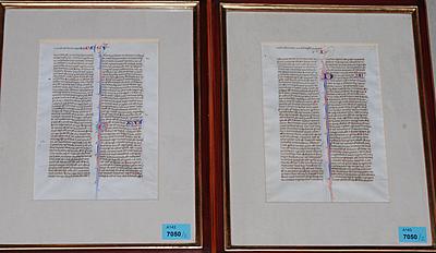Schuler Auktionen AG - Bibelhandschrift, um 1300