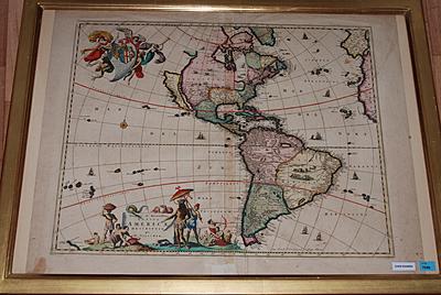Schuler Auktionen AG - Novissima et Acuratissima Totius Americae Descriptio. Kolor. Kupferstichkarte von N. Vissher, um 1670. 43x53,5 cm. Defekt.