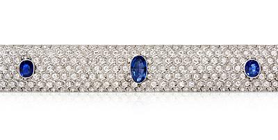 Schuler Auktionen AG - Art Déco Ceylon-Saphir-Brillant-Bracelet