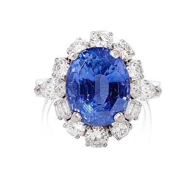 Schuler Auktionen AG - Ceylon-Saphir-Diamant-Ring