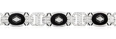 Schuler Auktionen AG - Gattle Diamant-Onyx-Bracelet