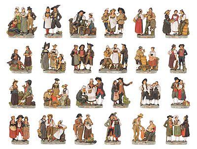Schuler Auktionen AG - Serie von 24 Trachtengruppen, Zizenhausen