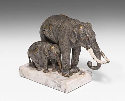 Schuler Auktionen AG - Tierfigurengruppe: Elefanten, Carl Kauba