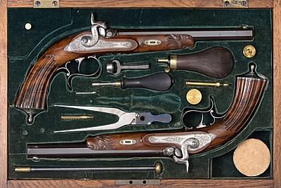 Schuler Auktionen AG - 1 Paar Duellierpistolen