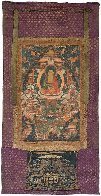 Schuler Auktionen AG - Thangka des Buddha Amitabha im westlichen Paradies