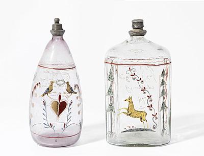 Schuler Auktionen AG - 2 Schnapsflaschen, alpenländisch