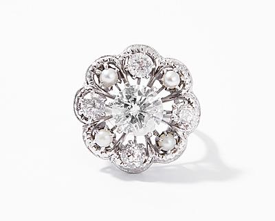 Schuler Auktionen AG - Diamant-Kulturperlen-Ring