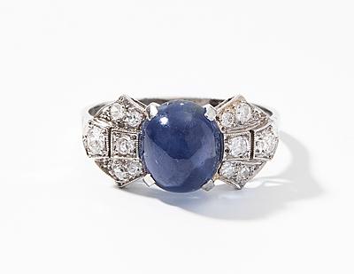 Schuler Auktionen AG - Burma-Sternsaphir-Diamant-Ring