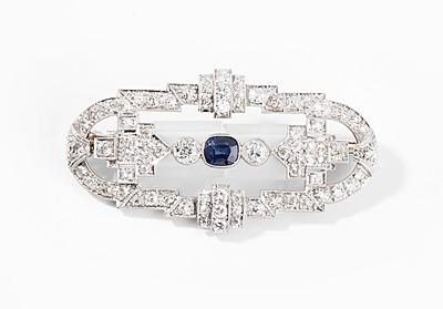 Schuler Auktionen AG - Saphir-Diamant-Brosche