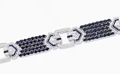 Schuler Auktionen AG - Saphir-Brillant-Bracelet
