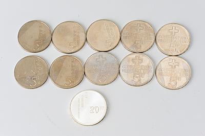 Schuler Auktionen AG - 11 Gedenkmünzen
