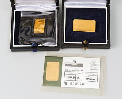 Schuler Auktionen AG - 3 kleine Goldbarren