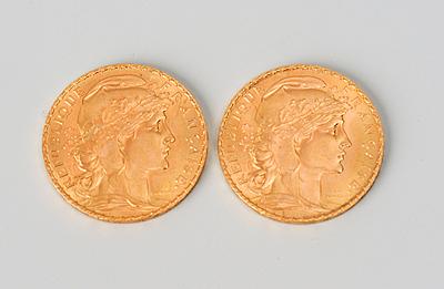 Schuler Auktionen AG - 2 x 20 Francs Or