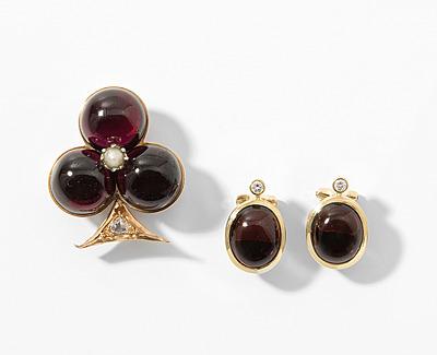 Schuler Auktionen AG - Granat-Diamant-Perlen-Set