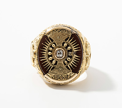 Schuler Auktionen AG - Karneol-Diamant-Herrenring