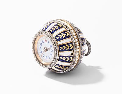 Schuler Auktionen AG - Email-Diamant-Anhängeruhr
