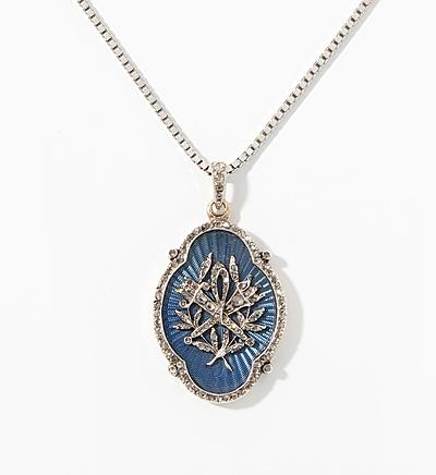 Schuler Auktionen AG - Diamant-Email-Anhänger mit Kette