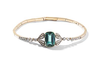 Schuler Auktionen AG - Turmalin-Diamant-Bracelet