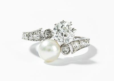 Schuler Auktionen AG - Diamant-Perlen-Ring