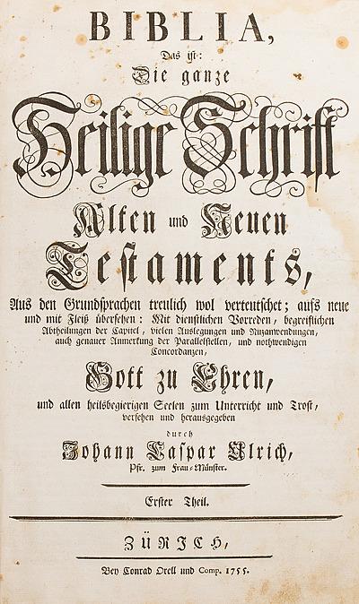 Schuler Auktionen AG - Biblia Germanica