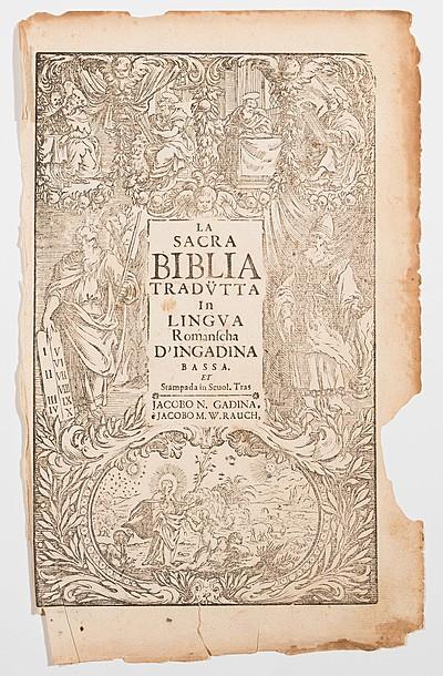 Schuler Auktionen AG - Biblia raeto-romanica