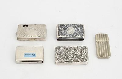Schuler Auktionen AG - Lot: 5 Streichholz- und Schnupftabakdosen