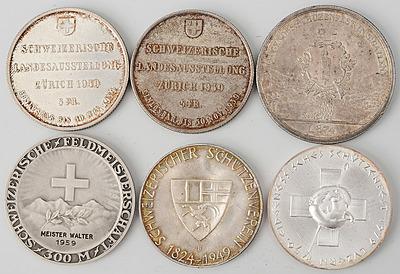 Schuler Auktionen AG - 6 Silbermedaillen