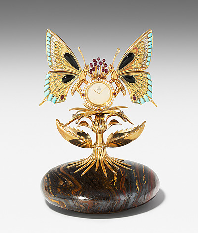 """Schuler Auktionen AG - """"Butterfly""""-Tischuhr"""