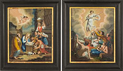 Schuler Auktionen AG - 1 Paar Hinterglasbilder