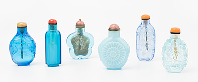 Schuler Auktionen AG - 6 Glas-Snuff Bottles