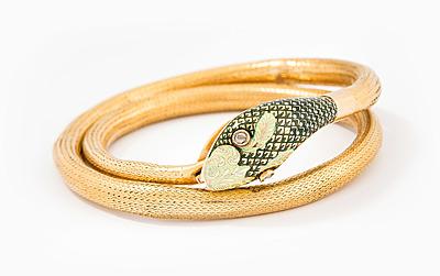 Schuler Auktionen AG - Email-Diamant-Schlangenarmband