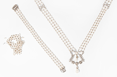 Schuler Auktionen AG - Diamant-Kulturperlen-Set