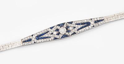 Schuler Auktionen AG - Art Déco Diamant-Saphir-Bracelet