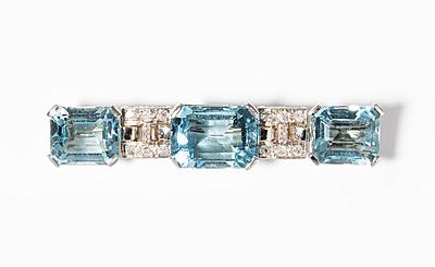 Schuler Auktionen AG - Aquamarin-Diamant-Brosche