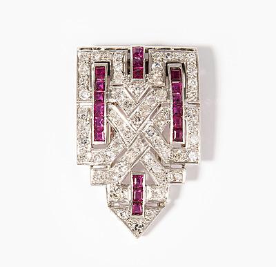 Schuler Auktionen AG - Diamant-Rubin-Dressclip