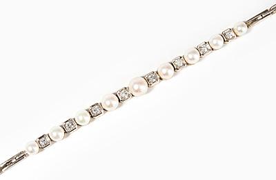 Schuler Auktionen AG - Kulturperlen-Brillant-Bracelet