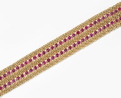 Schuler Auktionen AG - Rubin-Gold-Bracelet