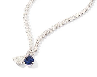 Schuler Auktionen AG - Diamant-Saphir-Collier